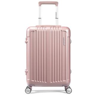 AMERICAN TOURISTER 美旅 铝框拉杆箱 潮男女商务万向轮行李箱 21英寸TSA密码箱旅行箱BB5玫瑰金色