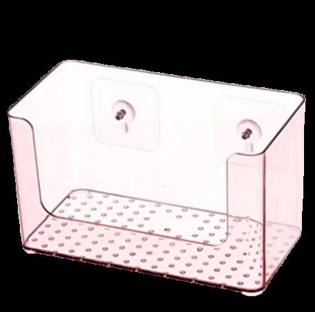BELO 百露 塑料透明收纳盒 22.5*12*13.3cm 酒红色