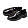CAMEL 骆驼 女士皮革套圆头浅口方跟单鞋A035156105