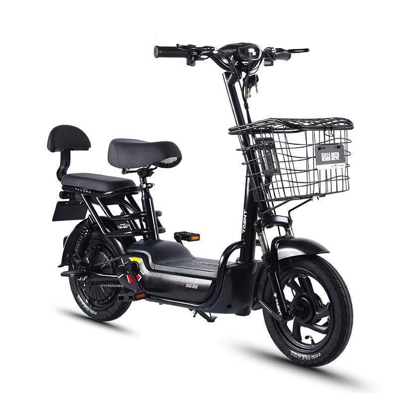 TAENT 踏浪 TDT123Z 电动车 小爱米油光黑可提电池版