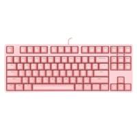 iKBC C200 87键 有线机械键盘 粉色 Cherry静音红轴 无光