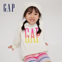 Gap 盖璞 女幼童一体绒运动卫衣