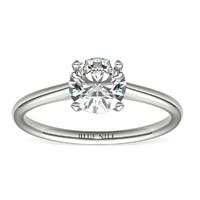 补贴购:Blue Nile 1.00克拉圆形切割钻石(切工EX,成色G,净度VS1)+ 14k 白金四爪单石戒指