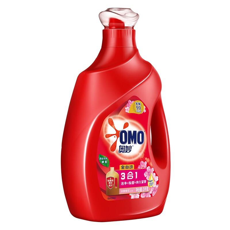 OMO 奥妙 全自动系列 3合1洗衣液 3kg/瓶 淡雅樱花