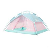 牧高笛(MOBIGARDEN)帐篷 户外 公园沙滩3-4人家庭亲子大空间全自动速搭加厚公园帐篷零动 经典版-粉色 *4件