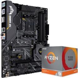 AMD Ryzen 锐龙 R9-3900XT 盒装CPU处理器 + ASUS 华硕 B550M Plus WiFi 主板 套装