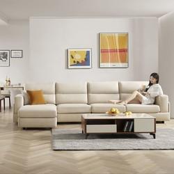 顾家简约现代布艺沙发轻奢科技布沙发客厅家具2068