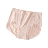 Miiow 猫人 女士棉质高腰蕾丝边三角内裤M215