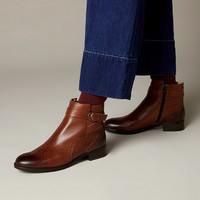 再降价:clarks 其乐 女士经典款雕花踝靴