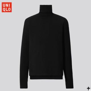 UNIQLO 优衣库 432657 男装+J美利奴羊毛混纺两翻领针织衫