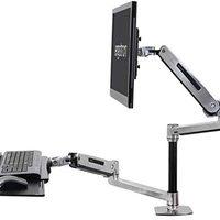 Ergotron – WorkFit-LX 立式桌面安裝系統 – 33 英寸延伸,拋光鋁