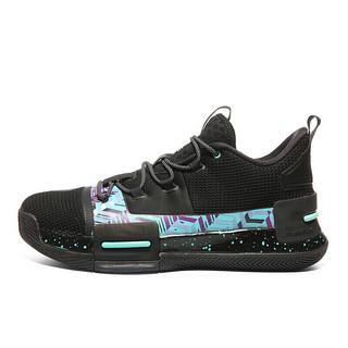PEAK 匹克 #运动时尚国货新品# 态极闪现1代 男子篮球鞋 E94451A 黑色/鲜绿 45