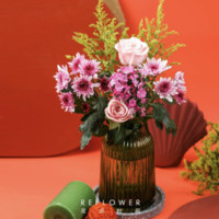 京东PLUS会员、限地区:REFLOWER 花点时间 玫瑰相思梅混合花束