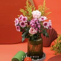 REFLOWER 花点时间 玫瑰相思梅混合花束