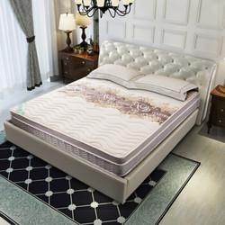 喜临门(SLEEMON)乳胶椰棕床垫 邦尼尔弹簧软硬两用 席梦思床垫 墨竹灰 1500*1900