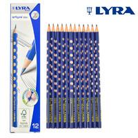 LYRA 艺雅 1760100 三角洞洞铅笔 12支装 送卷笔刀+橡皮擦+笔帽*6
