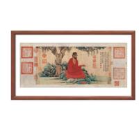 雅昌 赵孟頫 《红衣西域僧图》 26×51cm 装饰画 纸本设色
