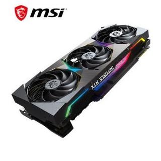 微星(MSI)超龙 GeForce RTX 3090 SUPRIM X 24G 超旗舰 电竞游戏设计智能学习电脑独立显卡