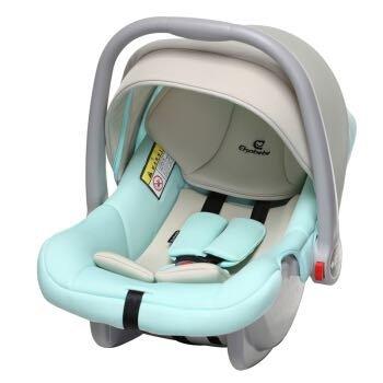 德国怡戈(Ekobebe)新生儿婴儿提篮式儿童0-15个月宝宝便携式摇篮车载手提篮3C认证EKO-007米绿色