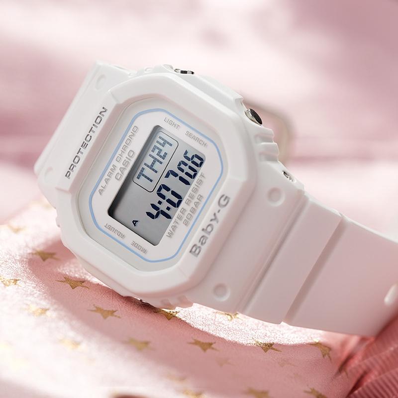 casio旗舰店BGD-560卡西欧小方块冰韧35周年限定复古运动表防水电子小方块手表女baby g限量新品防水运动手表