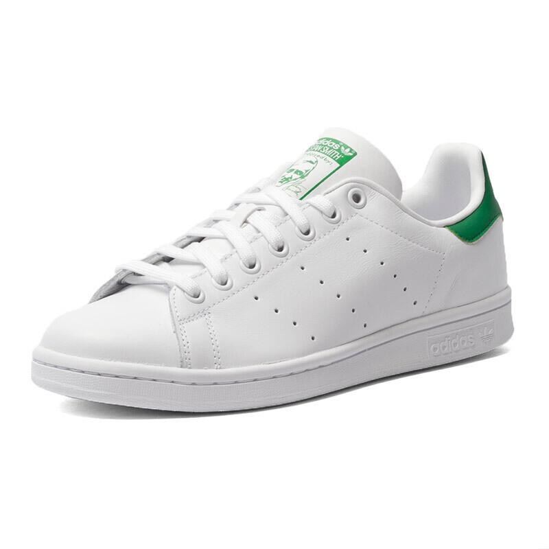 阿迪达斯adidas Originals三叶草STAN SMITH系列运动鞋板鞋休闲鞋小白鞋绿尾