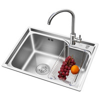 京东PLUS会员:ARROW 箭牌卫浴 AE5562122G-JZ  不锈钢厨房水槽+龙头