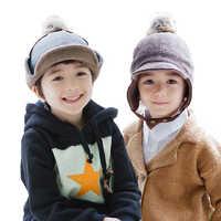 kocotree 儿童加绒护耳套头帽子