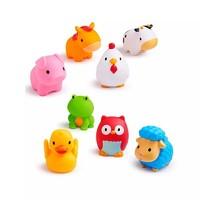 munchkin 满趣健 儿童农场小动物洗澡玩具 8只装