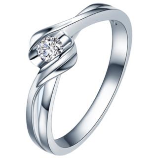 ZOCAI 佐卡伊 Zocai 佐卡伊珠宝 Q00069A 女士扭臂18K白金钻石戒指