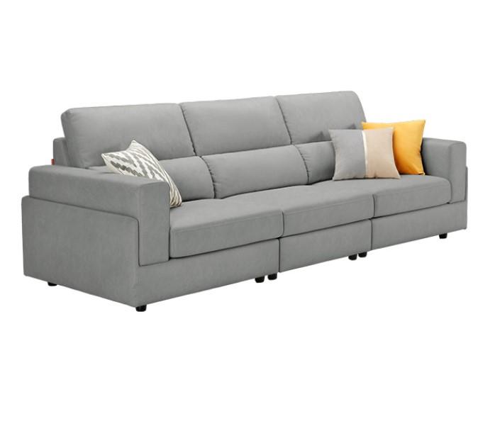 KUKa 顾家家居 YG.2055 布艺沙发 3双 浅灰色