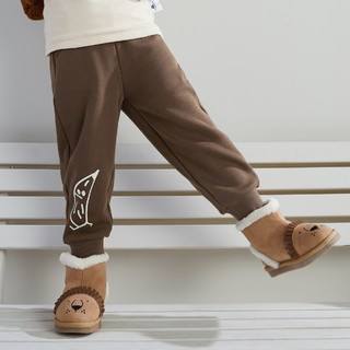 Mini Balabala 迷你巴拉巴拉 儿童加绒加厚裤子