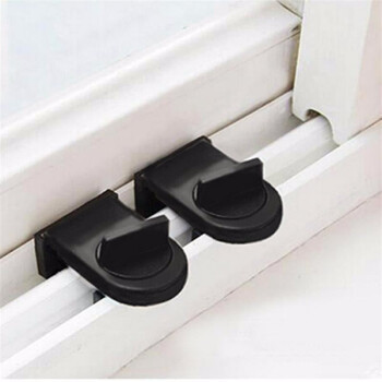 米良品 平移门窗儿童安全锁防盗锁扣 2个装