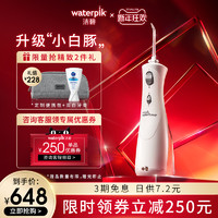waterpik洁碧小白豚便携式冲牙器水牙线洁牙器家用GS8-1