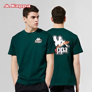 Kappa 卡帕 男款运动短袖休闲宽松T恤夏季圆领印花半袖