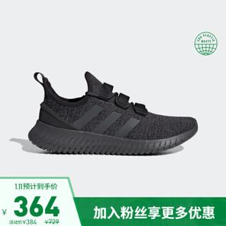 阿迪达斯官网 KAPTIR 男子跑步运动鞋EE9513 1号黑色/六度灰 43(265mm)