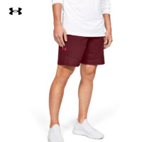 安德玛官方UA Vanish Woven男款透气潮流训练运动短裤1328654(S、红色615)