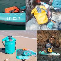 迪卡儂防水包防水袋大容量戶外箱包游泳防水箱漂流潛水ITIWIT(30L 橙色)