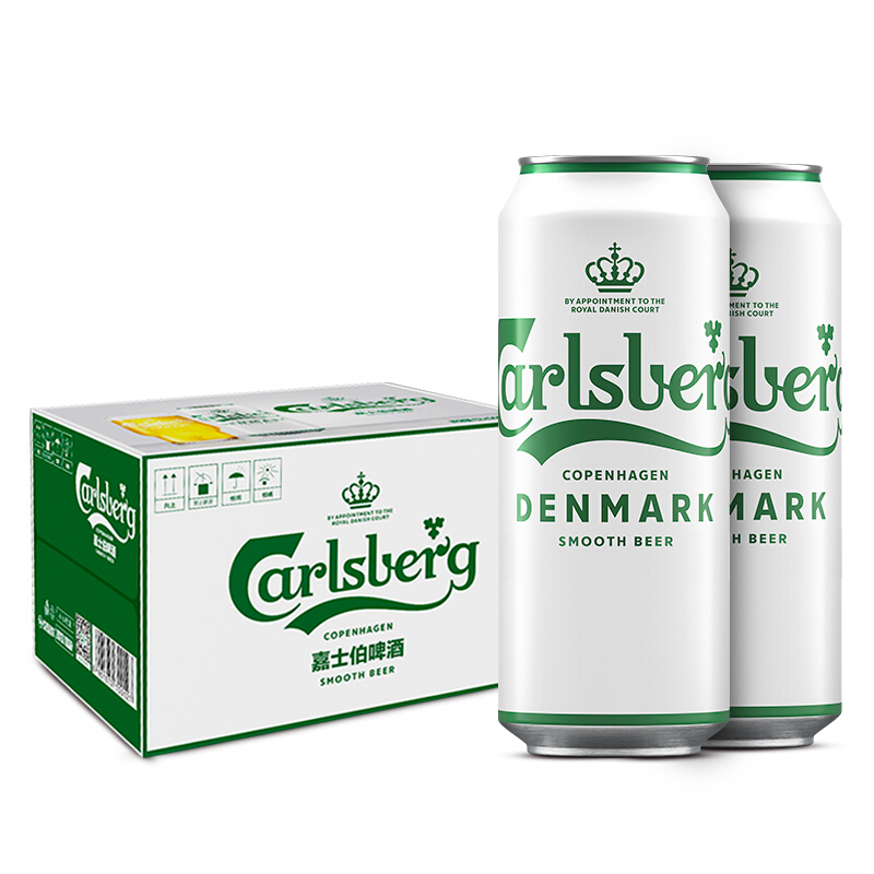 Carlsberg 嘉士伯 啤酒 500ml*12罐