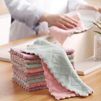 榕力 加厚双面珊瑚绒洗碗布 10条装