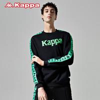 Kappa卡帕 BANDA情侣男女串标套头卫衣外套 KPARWWT62M(L、黑色-990)