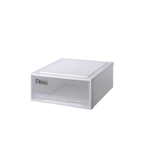 TENMA 天马 Fits系列 抽屉式收纳箱 45*45*20cm*2个 白色