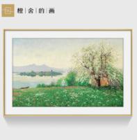 橙舍 装饰画美式挂画 欧式风景油画玄关装饰画 春天的早晨