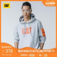 CAT 卡特彼勒 CAT/卡特春季卫衣logo印花休闲连帽套头衫