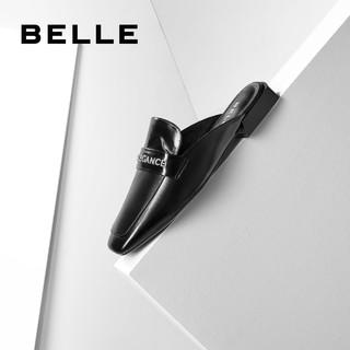 BeLLE 百丽 穆勒拖女2020春夏新品商场同款牛皮英伦平底凉鞋BK330AH0
