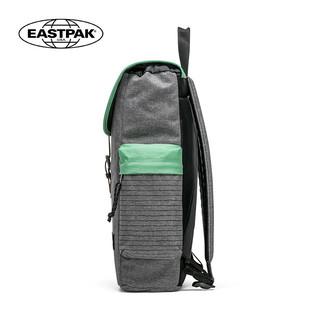 EASTPAK学院风电脑双肩背包女休闲 时尚翻盖大学生书包男潮双肩包(EK47B22L灰色)