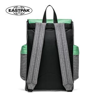EASTPAK学院风电脑双肩背包女休闲 时尚翻盖大学生书包男潮双肩包(EK47B35M灰绿色)