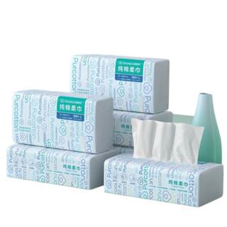 全棉时代 居家纯棉柔巾 干湿两用非湿巾湿纸巾6包/提 *2件