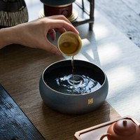 素以 纯铜上彩水盂茶洗 1200ml