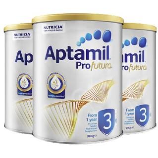 Aptamil 爱他美 白金版 幼儿奶粉 澳版 3段 900g*3罐