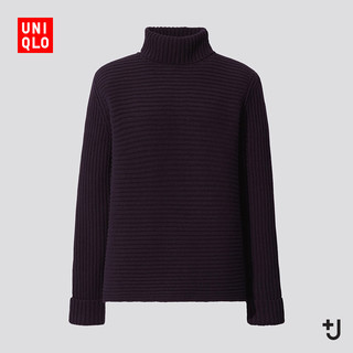 历史低价 : UNIQLO 优衣库 +J 435929 女士罗纹翻领针织衫